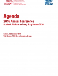 Cover of the Agenda of the 2016 Global Conference