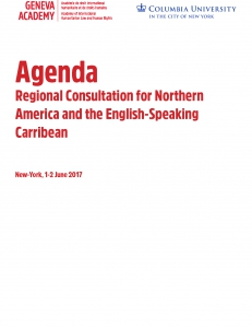 Cover of the Agenda of the Regional Consultation for Northern America and the English-Speaking Carribean