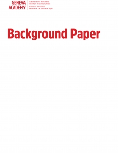 Cover of the Background Paper