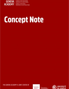 Cover of the Concept Note