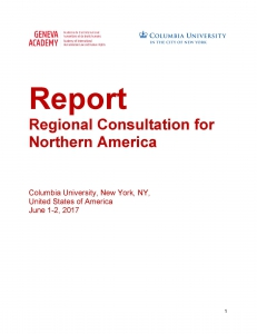 Cover page of the report