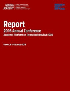 Cover of the Report of the 2016 Global Conference