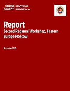 Cover of the Report of the Regional Consultation for Eastern Europe