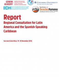 Cover of the Report of the Regional Consultation for for Latin America and the Spanish-Speaking Carribean