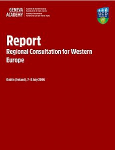 Cover of the Report of the Regional Consultation for Western Europe