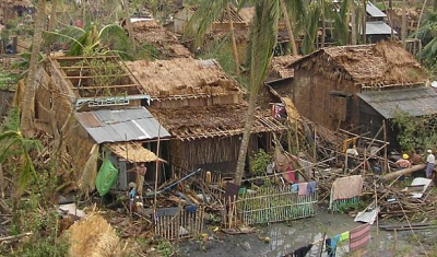 Destructions due to Nargis cyclone