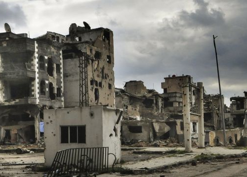 Homs (Syria), Homs. Destroyed buildings.