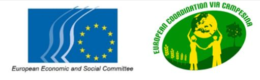 Logos Via Campesina and European Economic and Social Committee