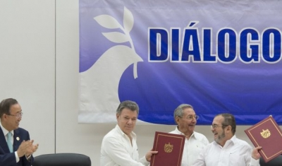 Ceremony for Colombian Ceasefire Agreement, Havana, June 2016