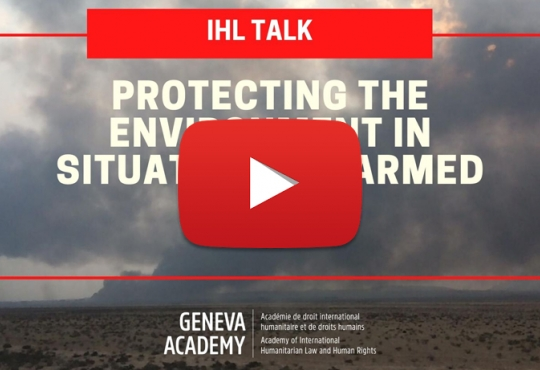 Protecting the Environment in Situations of Armed Conflict