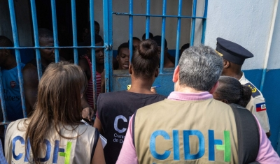Prison visit by the Inter-American Commission on Human Rights in Haiti