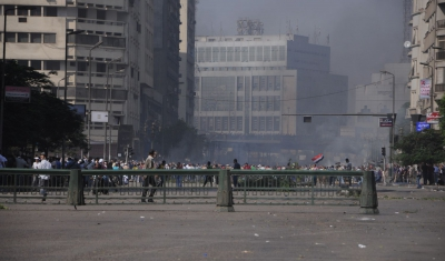 Repression of demonstrations in Cairo, Egypt