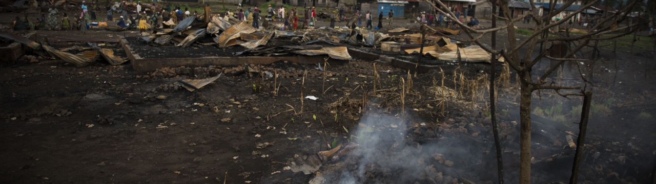 North Kivu province, Kitchanga downtown. The insanitary conditions next to the market worsens the situation of the residents affected by the recent violence.