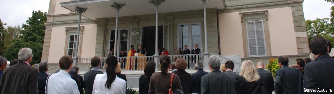 Inauguration of Villa Moynier