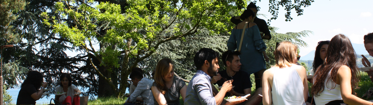 2'17 Alumni Gathering: Geneva Academy's alumni have lunch in the park