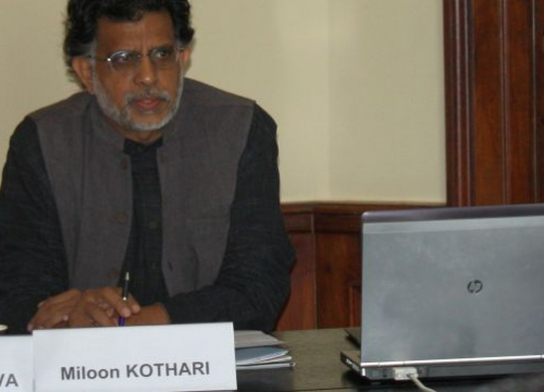 Miloon Khotari, human rights experts, during the training course on UN human rights mechanisms