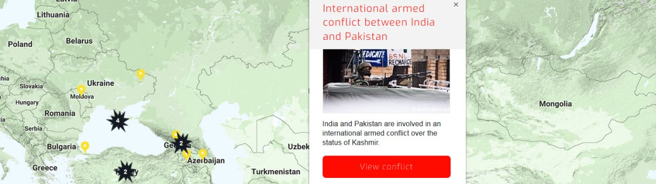 International Armed Conflict between India and Pakistan in Kashmir on RULAC