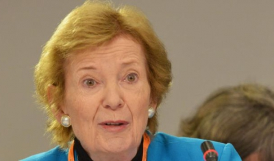 The Mary Robinson Foundation – Climate Justice CEO Mary Robinson speaks during a meeting of the Scaling Up Nutrition (SUN) Movement Lead Group at UNICEF House, New York City, United States of America, Monday 18 September 2017