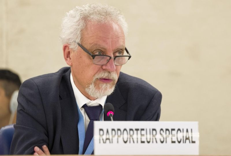 Léo Heller, Special Rapporteur on the human right to safe drinking water and sanitation, present's his report after his missions to Mexico and Portugal during 36th session of the Human Rights Council, September 2017.
