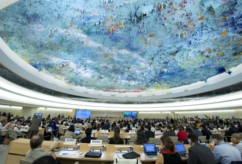 View of a session of the UN Human Rights Council