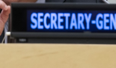 Name plate of the UN Secretary-General
