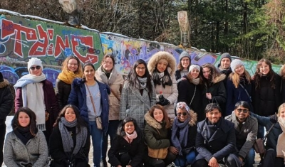 Group photo of LLM students during their study trip