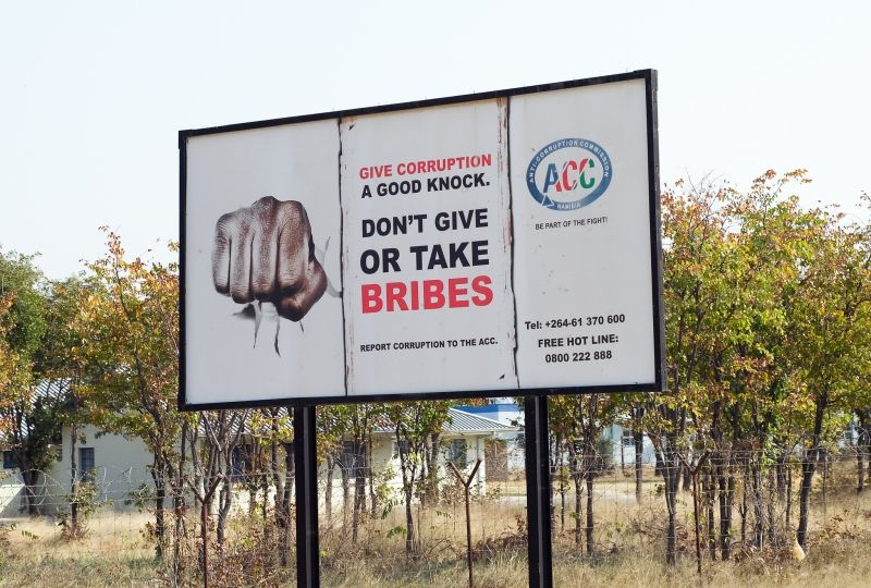 Anti-Corruption sign in Namibia