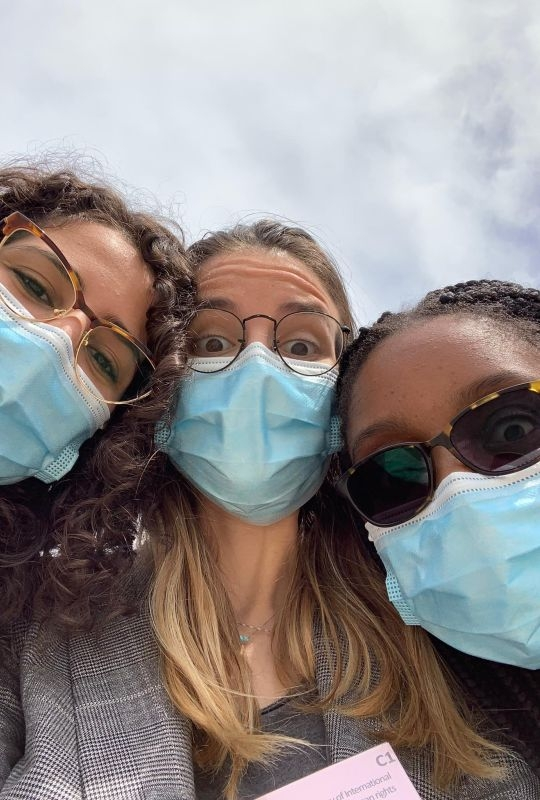 The 2021 Geneva Academy team at the Jean-Pictet Competition: selfie with masks
