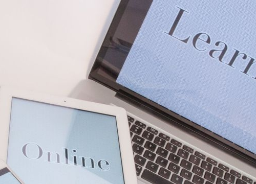 Laptop and tablet for online learning