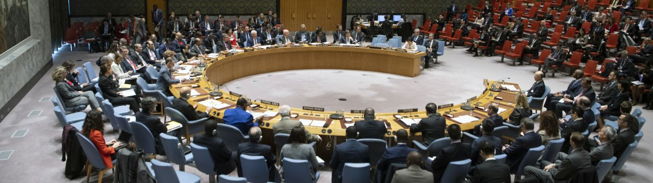 Photo of the UN Security Council in session