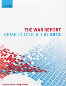 Cover page of the War Report 2013