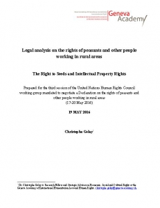 Cover of The Right to Seeds and Intellectual Property Rights