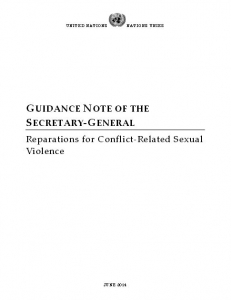 Cover of Guidance Note of the Secretary-General – Reparations for Conflict Related Sexual Violence