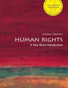 Cover of the book Human Rights: A Very Short Introduction
