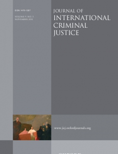 Cover of Journal of International Criminal Justice