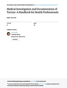 Cover of the book Medical Investigation and Documentation of Torture: A Handbook for Health Professionals