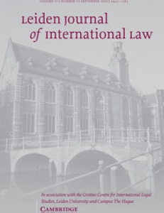 Cover page of the Leiden Journal of International Law