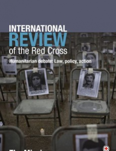 Cover page of the International Review of the Red Cross