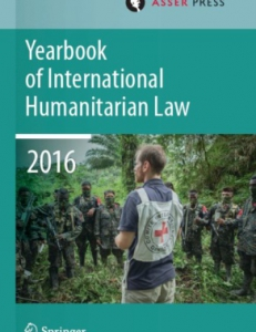 Cover page of the Yearbook of International Humanitarian Law 2016