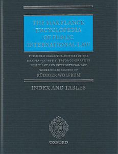 Cover of the Book Max Planck Encyclopedia of Public International Law