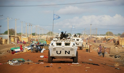 UN Peacekeepers on Patrol in Abyei, Sudan