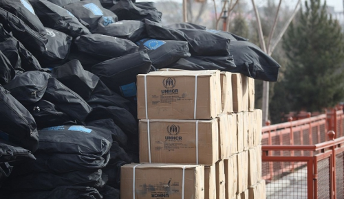 Kabul, January 2015, Distribution of UN winter aid for vulnerable Afghans