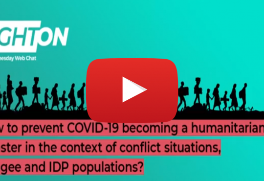 Right On: How to prevent COVID-19 becoming a humanitarian disaster in the context of conflict situations, refugee and IDP populations?